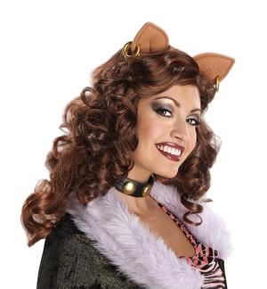 Clawdeen Wolf Wig Monster High Halloween Fancy Dress Costume Accessory Adult