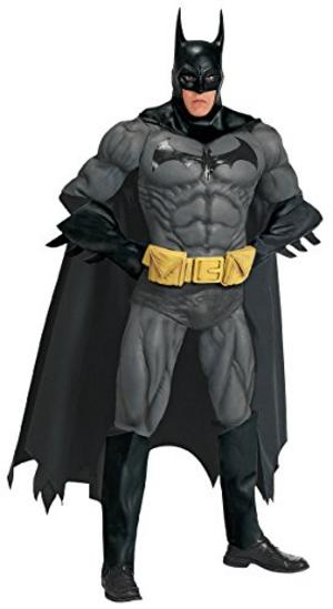 Collectors Grey Batman Fancy Dress Costume Comic Super Hero Halloween Outfit