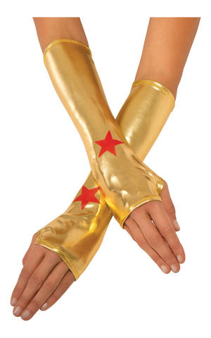 Wonder Woman Gauntlets Fancy Dress Costume Accessory Superhero Outfit Adult