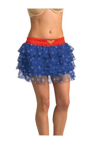 Ladies Wonder Woman Tutu Fancy Dress Costume Accessory Superhero Outfit Adult