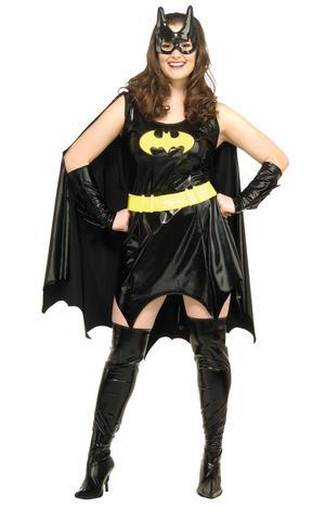 Ladies Batgirl Fancy Dress Costume DC Comics Superhero Halloween Outfit Adult