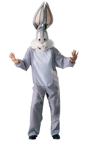 Bugs Bunny Fancy Dress Costume Looney Tunes Rabbit Outfit Adult