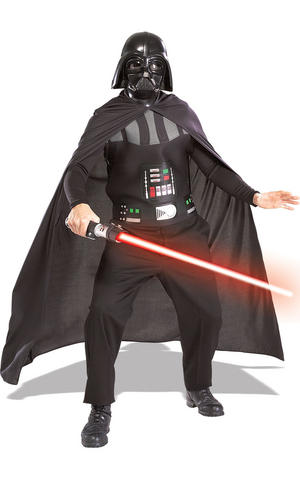Darth Vader Fancy Dress Costume Star Wars Cosplay Halloween Outfit Adult