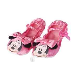 Childs Pink Minnie Mouse Ballet Pumps Disney Fancy Dress Costume Accessory