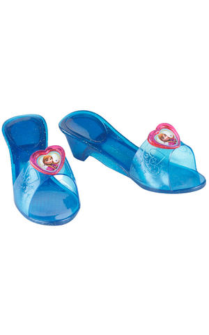 Childs Anna Jelly Shoes Disney Frozen Princess Fancy Dress Costume Accessory