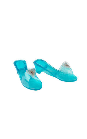 Childs Elsa Jelly Shoes Disney Frozen Princess Fancy Dress Costume Accessory