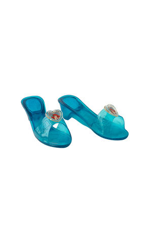 Childs Ariel Jelly Shoe Little Mermaid Princess Fancy Dress Costume Accessory