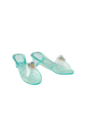 Childs Cinderella Jelly Shoes Disney Princess Fancy Dress Costume Accessory