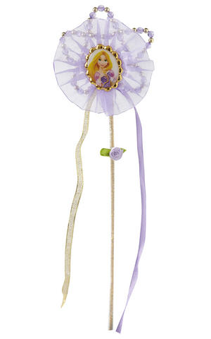 Childs Rapunzel Beaded Wand Disney Princess Fancy Dress Accessory Prop