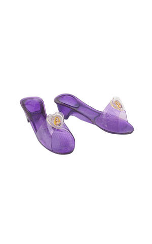 Childs Rapunzel Jelly Shoes Disney Princess Fancy Dress Costume Accessory