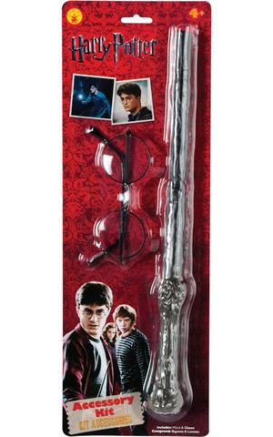 Childs Kids Harry Potter Wand & Glasses Wizard Book Week Fancy Dress Accessory