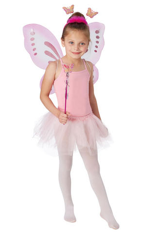 Childs Kids Butterfly Set Fairy Tale Insect Fancy Dress Costume Accessory