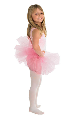 Childs Kids Pink Tutu Fairy Tale Princess Ballerina Fancy Dress Skirt