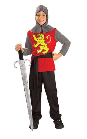 Kids Boys Childs Medieval Lord Fancy Dress Costume Outfit Knight King Arthur