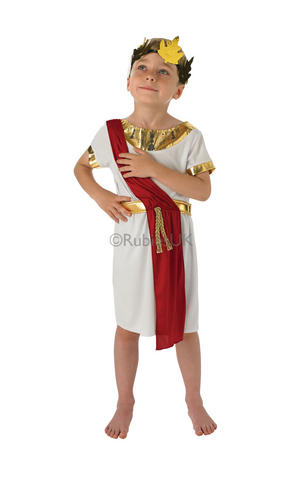 Kids Boys Childs Roman Boy Fancy Dress Costume Outfit Rubies Ancient Rome Toga