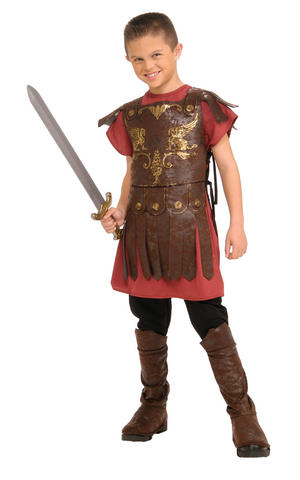 Kids Boys Childs Gladiator Fancy Dress Costume Outfit Rubies Roman Warrior