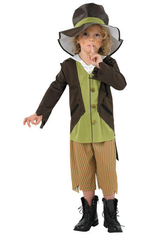 Boys Childs Victorian Pickpocket Fancy Dress Costume Outfit Oliver Book Week