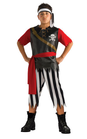 Kids Boys Childs Pirate King Fancy Dress Costume Outfit Buccaneer Halloween