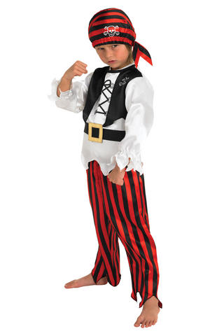 Kids Boys Childs Pirate Boy Fancy Dress Costume Outfit Buccaneer Caribbean