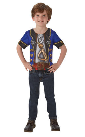 Kids Boys Childs Pirate T-Shirt Fancy Dress Costume Outfit Rubies Halloween