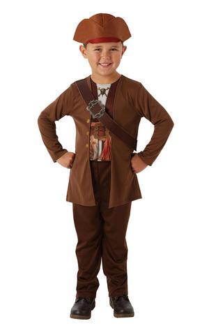 Kids Boys Childs Jack Sparrow Fancy Dress Costume Outfit Pirate Halloween