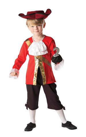 Kids Boys Childs Captain Hook Fancy Dress Costume Outfit Rubies Peter Pan Pirate