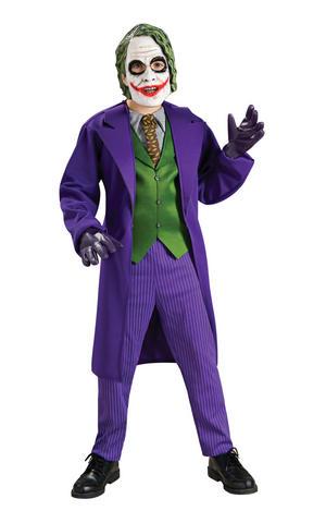Boys Childs Deluxe The Joker Fancy Dress Costume Outfit Dark Knight Halloween