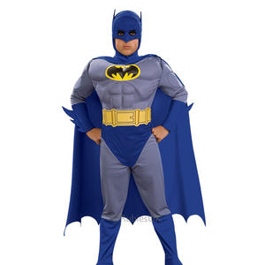 Boys Childs Deluxe Classic Batman Muscle Fancy Dress Costume Outfit Superhero