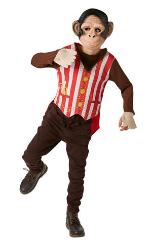 Kids Childs Mr Monkey Fancy Dress Costume Outfit Rubies Book Week Chimp Jungle