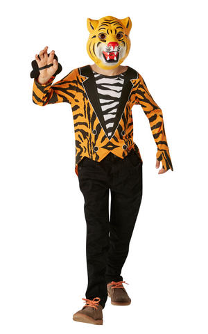 Kids Childs Mr Tiger Fancy Dress Costume Outfit Rubies Book Week Jungle Animal