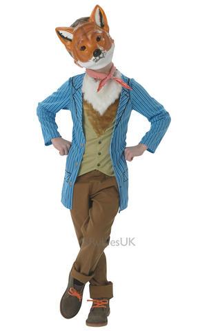 Kids Childs Fantastic Mr Fox Fancy Dress Costume Outfit Book Week Roald Dahl