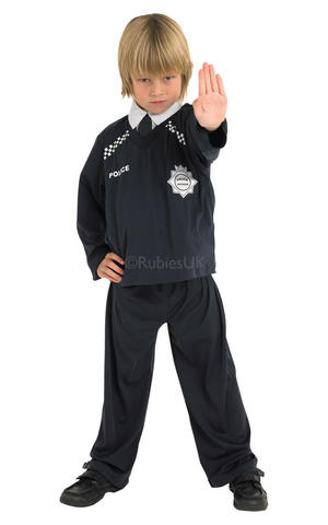 Kids Childs Policeman Copper Fancy Dress Costume Outfit Rubies Cops & Robbers