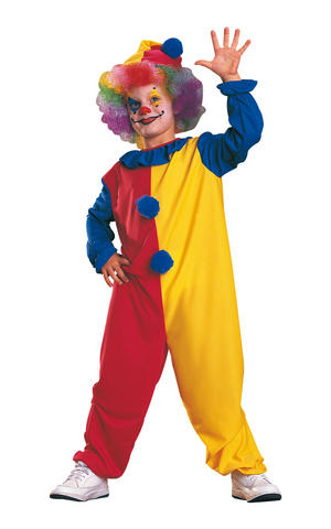Kids Childs Clown Fancy Dress Costume Outfit Rubies Circus Carnival Halloween