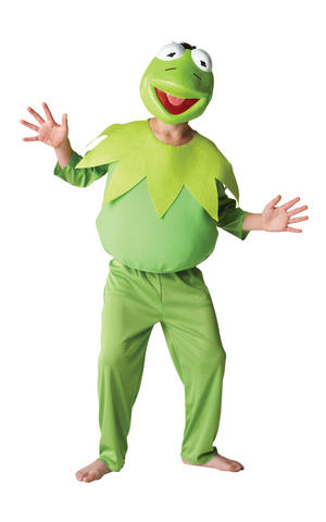 Kids Childs Deluxe Kermit The Frog Fancy Dress Costume Outfit Rubies Muppets