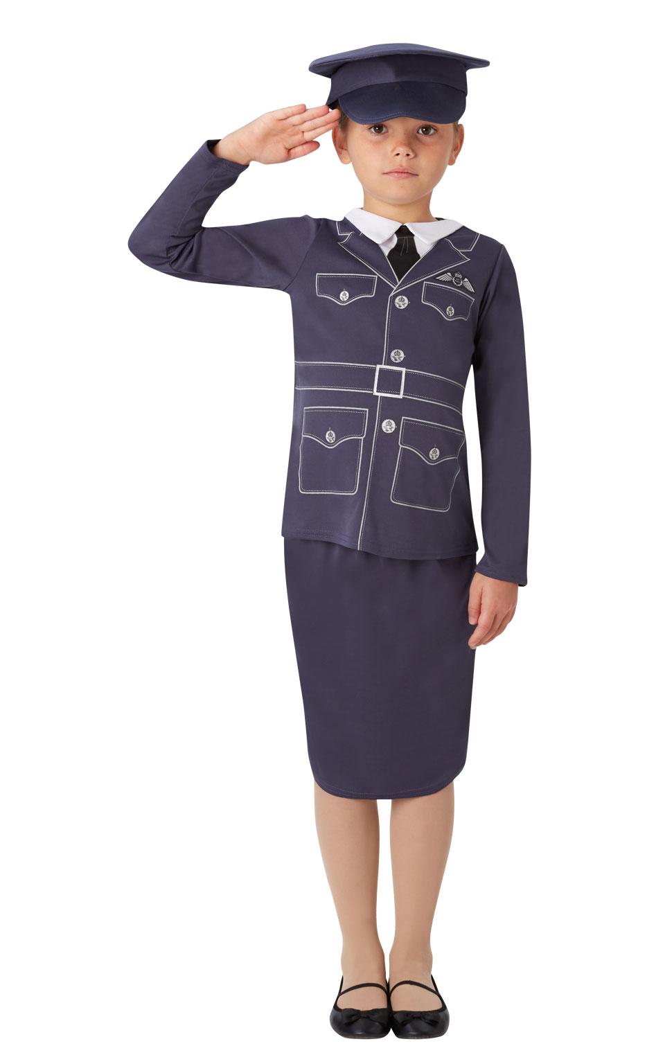 Details about GirlS Kids Fancy Dress Raf Pilot Uniform Ww2 1940S Childs  Costume Childrens 5-6