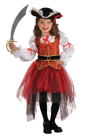 Girls Kids Childs Pirate Princess Fancy Dress Costume Outfit Rubies Halloween