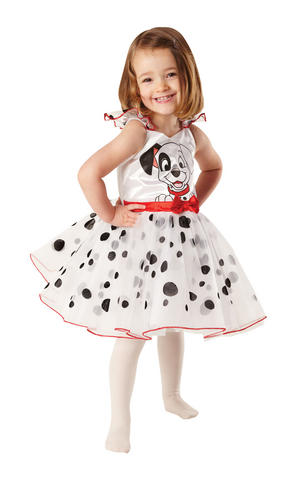 Girls Kids Childs 101 Dalmations Tutu Ballerina Fancy Dress Costume Outfit