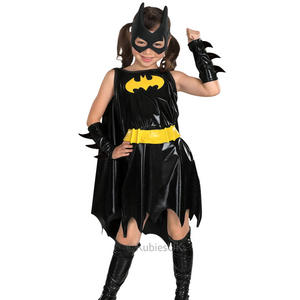 Girls Kids Childs Deluxe Batgirl Fancy Dress Costume Outfit Comic Superhero