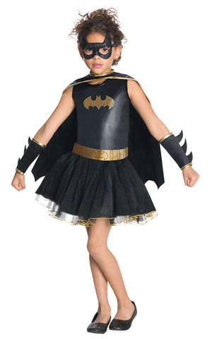 Girls Kids Childs Batgirl Fancy Dress Costume Outfit Rubies Superhero Halloween