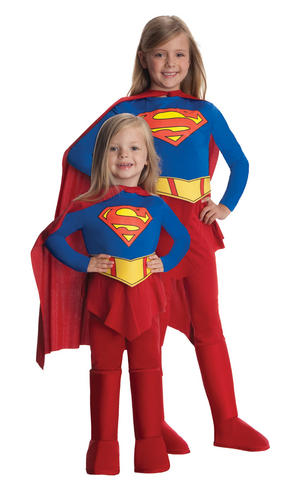 Girls Kids Childs Deluxe Supergirl Fancy Dress Costume Outfit Rubies Superhero
