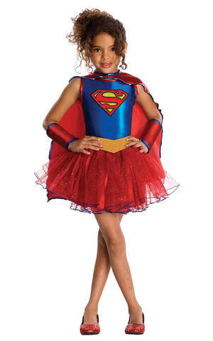 Girls Kids Childs Supergirl Fancy Dress Costume Outfit Rubies Comic Superhero