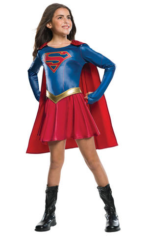 Girls Kids Childs Supergirl Child Tv Series Fancy Dress Costume Outfit Rubies