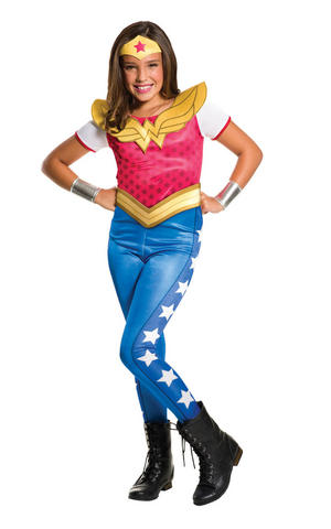 Girls Kids Childs Wonder Woman Fancy Dress Costume Outfit Halloween Book Week