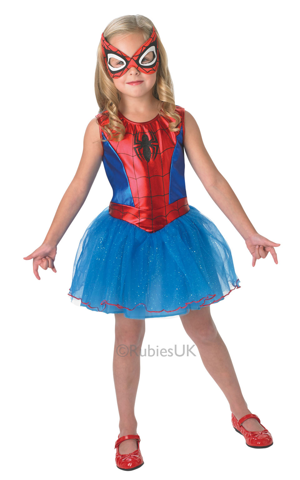 Girls Kids Childs Spidergirl Fancy Dress Costume Outfit Superhero Comic