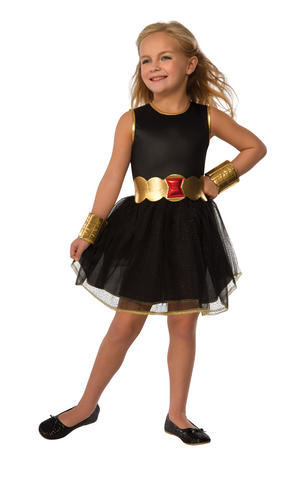 Girls Kids Childs Black Widow Fancy Dress Costume Outfit Rubies HALLOWEEN