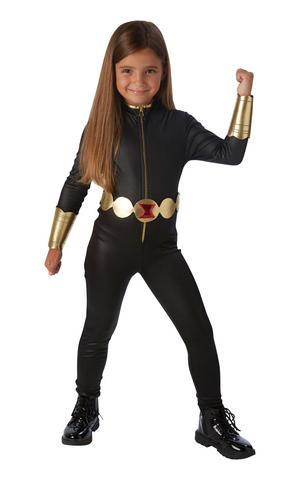 Girls Kids Childs Black Widow Fancy Dress Costume Outfit Avengers Assemble