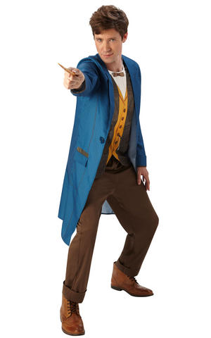 Mens Adult Newt Scamander Fancy Dress Costume Outfit Rubies Official