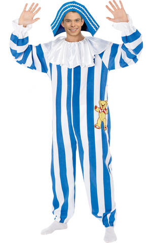 Mens Adult Andy Pandy Fancy Dress Costume Outfit Rubies TV Character 70s