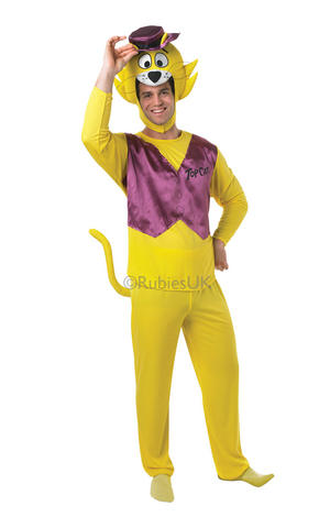 Mens Top Cat Fancy Dress 1960S 60S Hanna-Barbera Cartoon Tv Show Costume Outfit