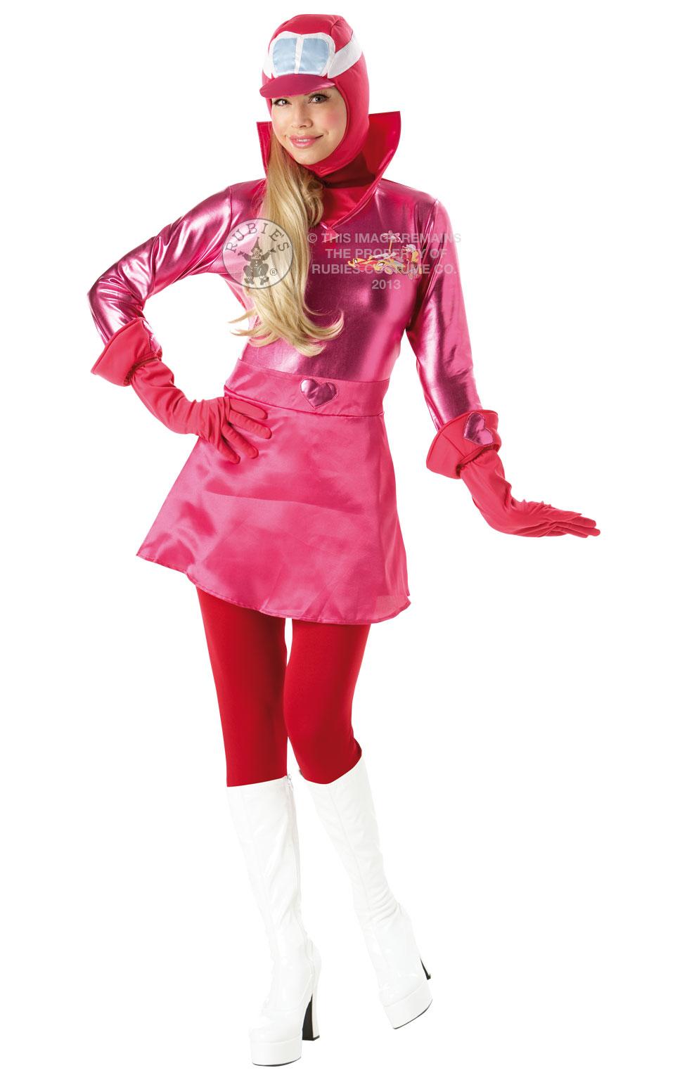 Womens Penelope Pitstop Fancy Dress Costume Outfit Rubies Wacky Races Cartoon